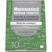 Petre Simion, Matematica pentru clasa a X-a. Breviar teoretic cu exercitii si probleme propuse si rezolvate - Teste de evaluare (Editie 2017)