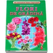 Flori de gradina - Sa cunoastem lumea impreuna! (Contine 16 cartonase cu imagini color) de Silvia Ursache