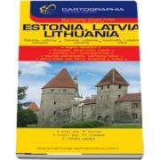 Harta rutiera Estonia, Litvania, Letonia