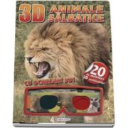 Animale salbatice - Cu ochelari 3D! - Contine 20 de abtibilduri 3D reutilizabile