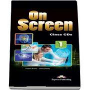 Curs de limba engleza On Screen 1 Class CDs. Set 5 CD-uri pentru clasa a V-a de Virginia Evans