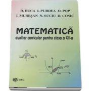 Matematica, auxiliar curricular pentru clasa a XII-a M1 si M2 de D. Duca