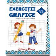 Caiet de exercitii grafice 5-6 ani de Mariana Andreianu (Editie revizuita si imbunatatita 2017, B5)