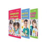 Set de 3 caiete pentru clasa pregatitoare (Editia 2018) Comunicare in Limba Romana, Dezvoltare personala, Matematica si explorarea mediului - Aprobat M. E. N. 2018 -