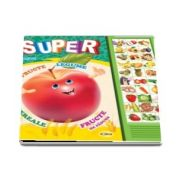 Inesa Tautu - Carte cu sunete - Super fructe, legume, cereale, fructe de padure - Romana si Engleza