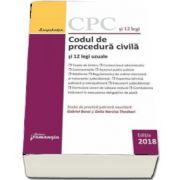 Codul de procedura civila si 12 legi uzuale. Actualizat 12 martie 2018