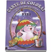 Fifi - Carte de colorat, contine autocolant