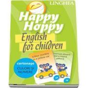 Happy Hoppy. English for children - Culori si numere (Cartonase cu imagini pentru invatarea distractiva a limbii engleze)