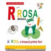R de la Rosa broasca. Rosa, o broasca printre flori