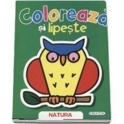 Coloreaza si lipeste - Natura