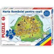 Harta Romaniei, puzzle cu 35 piese
