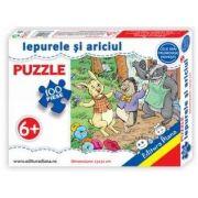 Iepurele si ariciul, puzzle cu 100 piese