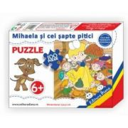 Puzzle - Mihaela si cei sapte pitici - Contine 100 piese