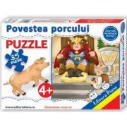 Puzzle - Povestea porcului - Contine 35 piese