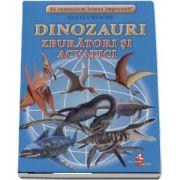 Sa cunoastem lumea impreuna! Dinozauri zburatori si acvatici (Set 16 cartonase cu imagini color si texte informatice) de Silvia Ursache