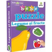 Bebe puzzle - Legume si fructe (Contine 20 de piese de mari dimensiuni)