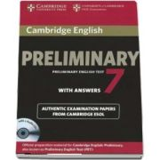 Cambridge English Preliminary 7 Student's Book Pack (Student's Book with Answers and Audio CD)