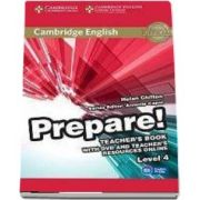 Cambridge English Prepare! Level 4 Teacher's Book with DVD and Teacher's Resources Online - Helen Chilton