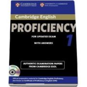 Cambridge English Proficiency 1 for Updated Exam Self-study Pack (Student's Book with Answers and Audio CD) - Authentic Examination Papers from Cambridge ESOL