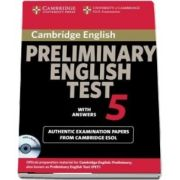 Cambridge Preliminary English Test 5 Self-Study Pack with Answers