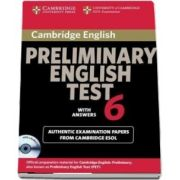 Cambridge Preliminary English Test 6 Self Study Pack (Student's Book with answers and Audio CD) - Official Examination Papers from University of Cambridge ESOL Examinations