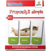 TrioPuzzle - Propozitii simple. Activitati premergatoare cititului si scrisului - Contine 60 de carduri