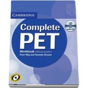 Complete PET Workbook without answers with Audio CD - Peter May
