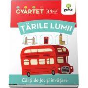 Tarile lumii - Carti de joc si invatare (Colectia Cvartet 4-6 ani)