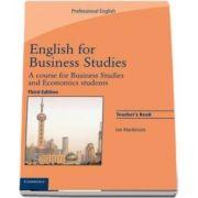 English for Business Studies. A Course for Business Studies and Economics Students, Teachers Book - Ian Mackenzie, Cambridge University Press