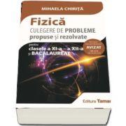 Fizica, culegere de probleme propuse si rezolvate pentru clasele a XI-a, a XII-a si Bacalaureat - Mihaela Chirita (Avizat - OM 3530)