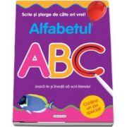 Scrie si sterge de cate ori vrei! Alfabetul ABC. Joaca-te si invata sa scrii literele! - Varsta recomandata 5 ani +