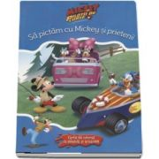 Sa pictam cu Mickey si prietenii. Carte de colorat cu pensula si acuarele