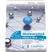 Marius Burtea, Culegere de matematica pentru clasa a IX-a, profil M2. Functia de gradul I, functia de gradul II, trigonometrie (Semestrul II)
