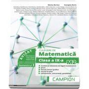 Marius Burtea, Culegere de matematica pentru clasa a IX-a, profil M2. Multimi si elemente de logica matematica (Semestrul I)