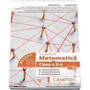 Marius Burtea, Culegere de matematica pentru clasa a X-a, profil M2. Metode de numarare, matematici financiare, elemente de geometrie (Semestrul II)