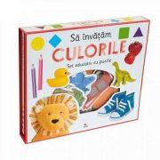Sa invatam culorile - Set educativ cu puzzle