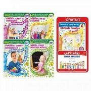 Set de 4 carti format A4 pentru gradinita, grupa mijlocie 4-5 ani (contine 6 carticele tematice de povesti si un supliment pentru limba engleza- Editie 2017)