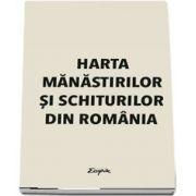 Harta manastirilor si schiturilor din Romania