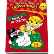 Looney Tunes. Aventuri de Craciun, carte de colorat