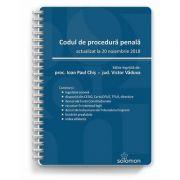 Codul de procedură penală. Actualizat la 20 noiembrie 2018