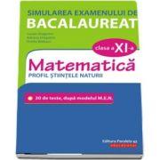 Simularea examenului de bacalaureat. Matematica. Clasa a XI-a. Profil stiintele naturii. 30 de de teste, dupa modelul M.E.N.