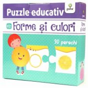 Forme si culori - Puzzle educativ - Varsta recomandata: 3 - 4 ani