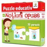 Notiuni opuse - Puzzle educativ - Varsta recomandata: 3 - 4 ani