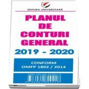 Planul de conturi general 2019-2020. Conform OMFP 1802/2014