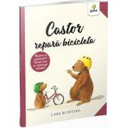 Castor repara bicicleta