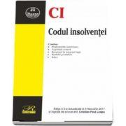Codul insolventei. Editia a II-a, actualizata la 5 februarie 2017