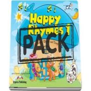 Curs de limba engleza - Happy Rhymes 1 Story Book with Audio CD and DVD Video PAL
