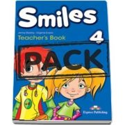 Curs de limba engleza - Smiles 4 Teachers Book interleaved with Posters