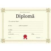 Diploma - Format A4 (model imagine aurie)