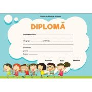 Diploma - Format A4, pentru gradinita (model imagine copii)